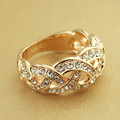 Free Shipping Italina Rigant Fashion Jewelry Wholesale Rose gold plated Austrian Crystal Rings for women Gift