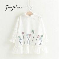 Fanfiluca Kids Dresses For Girls New Summer Casual Style Lovely Small Fresh Flowers Girl Dress Children
