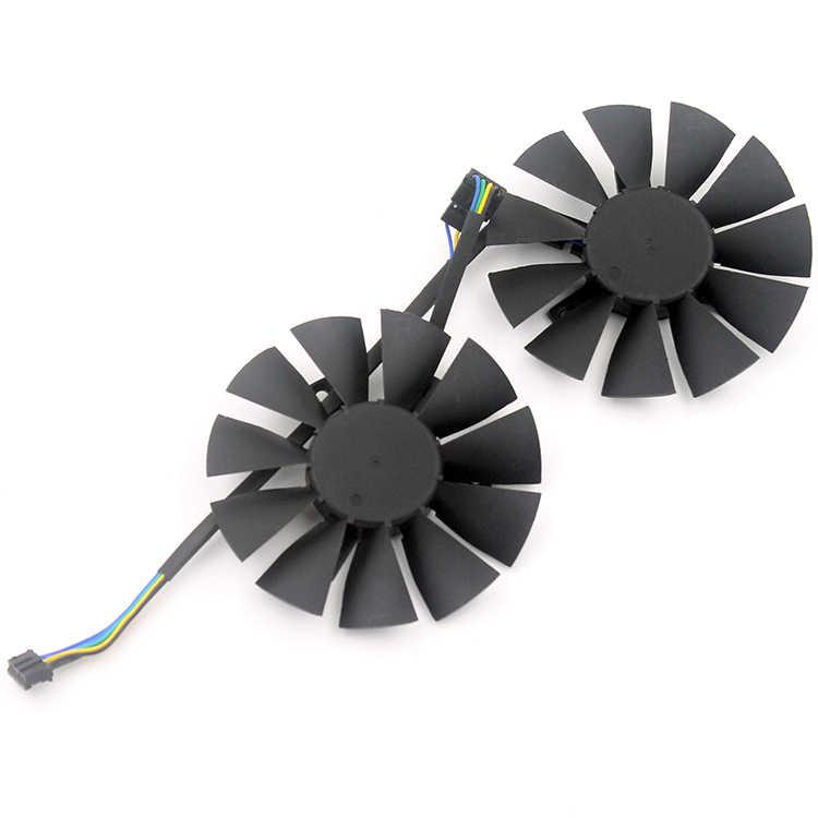2 قطعة/الوحدة الكمبيوتر VGA برودة بطاقة الفيديو مروحة التبريد ل ASUS STRIX GTX960/GTX950/GTX750Ti بطاقات الرسومات المشجعين