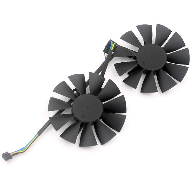 2pcs/lot computer VGA cooler Video card cooling fan for ASUS STRIX GTX960/GTX950/GTX750Ti graphics cards fans