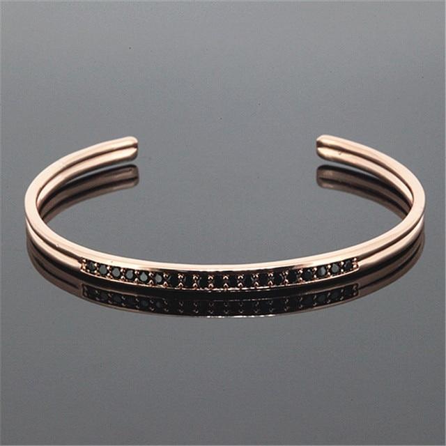 1PC Luxury Brand Anil Arjanda Men Bangles Rose Gold Cuff Bangle Bracelets for Men Women Bracelets Jewelry