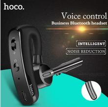 цена на HOCO Business Bluetooth Earphone Noise Cancelling Voice Control Wireless Headphone With Mic Car Sport Headset for iPhone XS Max