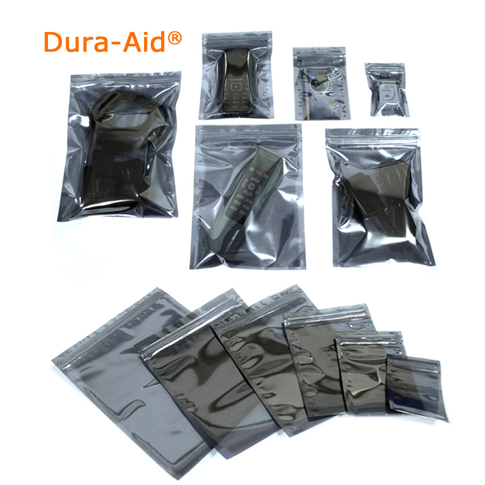 "8x12cm_3.1""*4.7"" Antistatic Aluminum Storage Bag ZipLock Resealable Anti Static Pouch for Electronic Accessories Package ESD Bag"