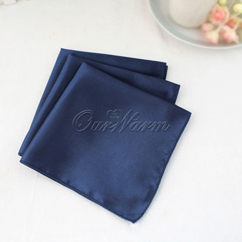 "100Pcs Wedding Table Napkins 12"" Square Pocket Handkerchief Satin Table Dinner Napkins for Wedding Decoration Accessories"