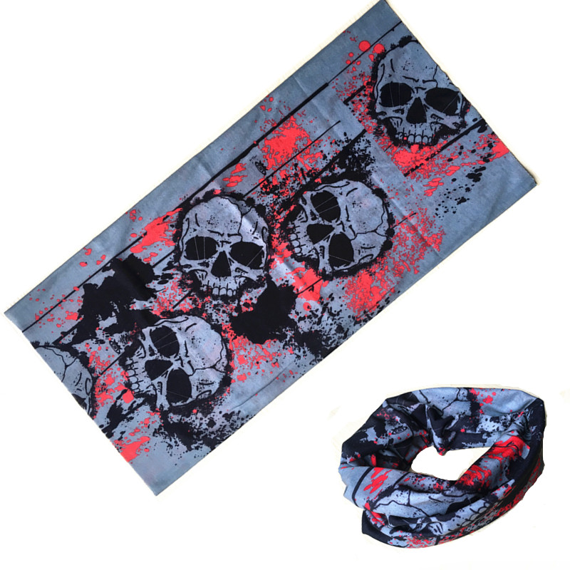 HallowMultifunctional Magic Scarf Outdoor Turban Tube Ring Bandana Cycling Thin Headwear Sport Bicycle Fishing Mask Face Scarves