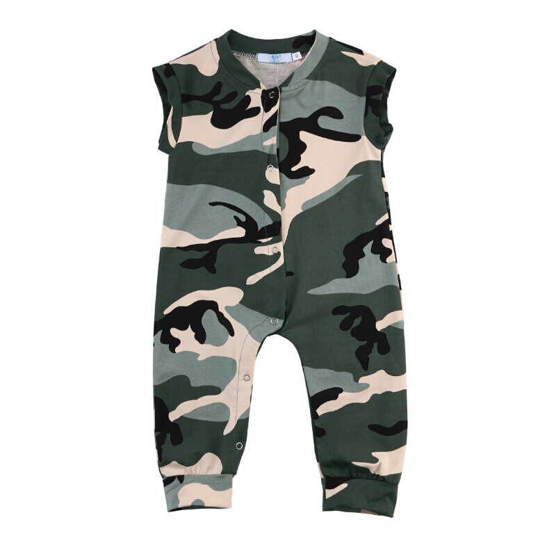 Army Green Romper Sleeveless Fashion Playsuit Clothes Outfits 0-3Y Newborn Kids Baby Girl Boys Kids Clothing 2pcs set newborn floral baby girl clothes 2017 summer sleeveless cotton ruffles romper baby bodysuit headband outfits sunsuit