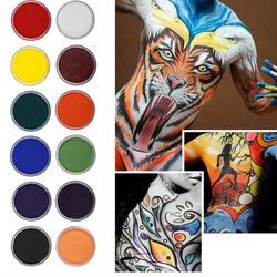 Sicher Körper Malerei Gesicht Malen Flash Tattoo Halloween Party Bühne Make-Up Gesicht Körper Wasser Malerei Öl Matte Pigment Körper Malerei