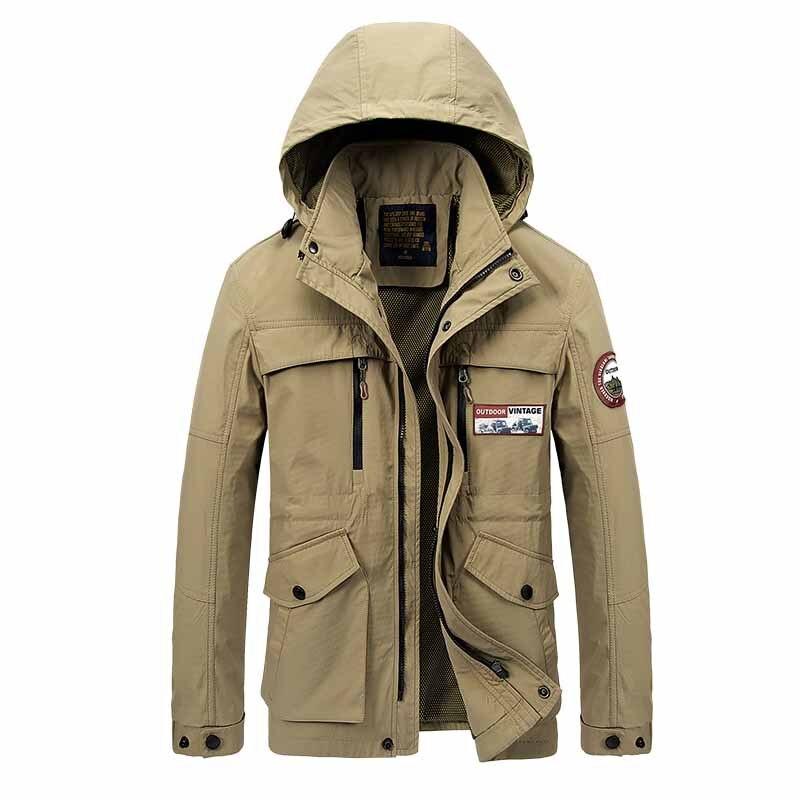 ФОТО Outdoor Jacket Men Camping Climbing Hiking jacket Man Coat Men Hooded jacket large size Do not fade Sport Leisure Jacket Durable