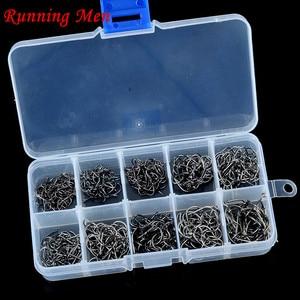 fish fishing lure 500Pcs/box) Size #3-12 High Carbon Steel Boxed Fishing Hooks Circle Fishhooks Catfish Equipment Articles
