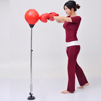 Adjustable Freestanding Reflex Punching Bag Solid Ball Boxing Speed Bag For Adult Kid PU Leather Height
