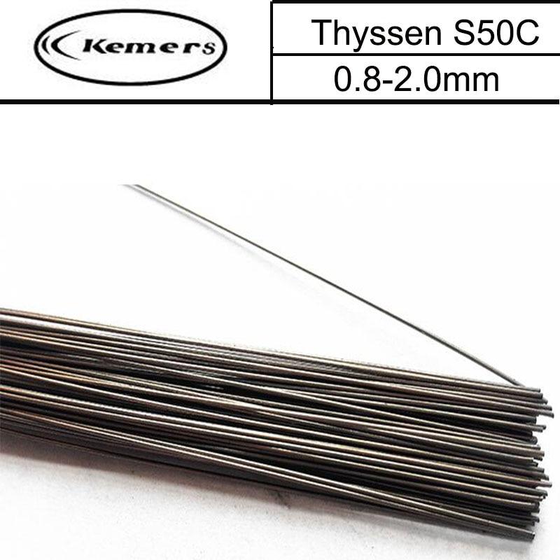 1KG/Pack Kemers Mould welding wire Thyssen S50C for Welders (0.8/1.0/1.2/2.0mm) T012009 professional welding wire feeder 24v wire feed assembly 0 8 1 0mm 03 04 detault wire feeder mig mag welding machine ssj 18