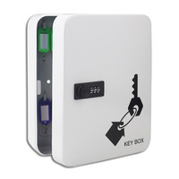 28 bit Key Cabinet Security Management Box Wall mounted Password Lock Key Storage Box with Key card (For 7.5 12cm length keys)