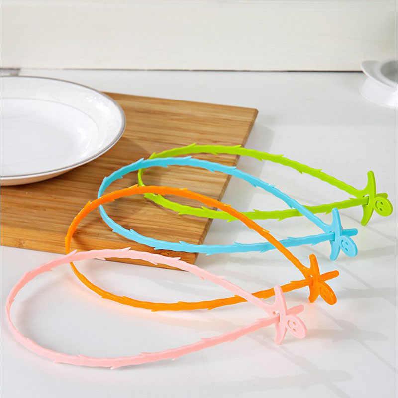 1pc 화장실 드레인 청소 후크 욕실 주방 유용한 도구 Unclog 싱크 욕조 Scourer 홈 헤어 제거 클리너 브러시 무작위 컬러