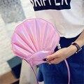 Design laser sweet shell chain shoulder bag clutch bag girl's messenger bag handbag flap