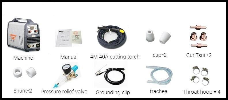 Plasma Schneiden Maschine LGK40 CUT50 220V Plasma Cutter Mit PT31 Freies Schweißen Zubehör