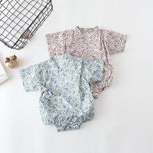 ; Летнее Детское кимоно; халат; комбинезоны для девочек и мальчиков в цветочек японский спортивный костюм; Детские повседневные комбинезоны для новорожденных; Bebes