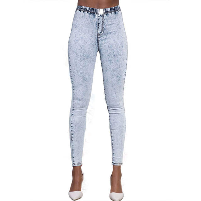 bf6f41d3b33 Online Shop 2018 New Plus Size Ultra Stretchy Acid Washed Jeans Woman Denim Pants  Trousers For Women Pencil Skinny Jeans
