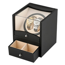 Black Drawer Type Jewelry Storage Watch Winders Box US/UK/AU/EU Plug Motor Shaker Holder Mechanical Self Winding Boxes