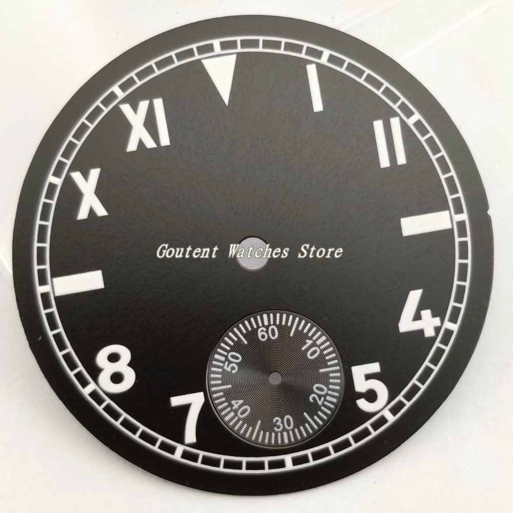 38.9mm Black Dial With White Number Watch Part Kit ETA 6498 Seagull st36 Movement Watch Accessory