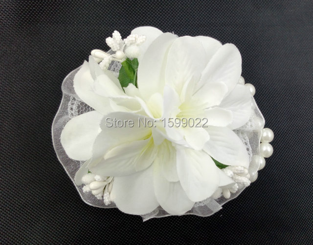 Handmade white wedding corsage flowers pip berry best man handmade white wedding corsage flowers pip berry best man boutonniere bride flower girl bracelets for bridesmaid mightylinksfo