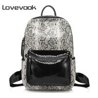 LOVEVOOK Women Backpack Split Leather Multifunctional Shoulder Bag Female Large Capacity Fashion School Bags For Girls