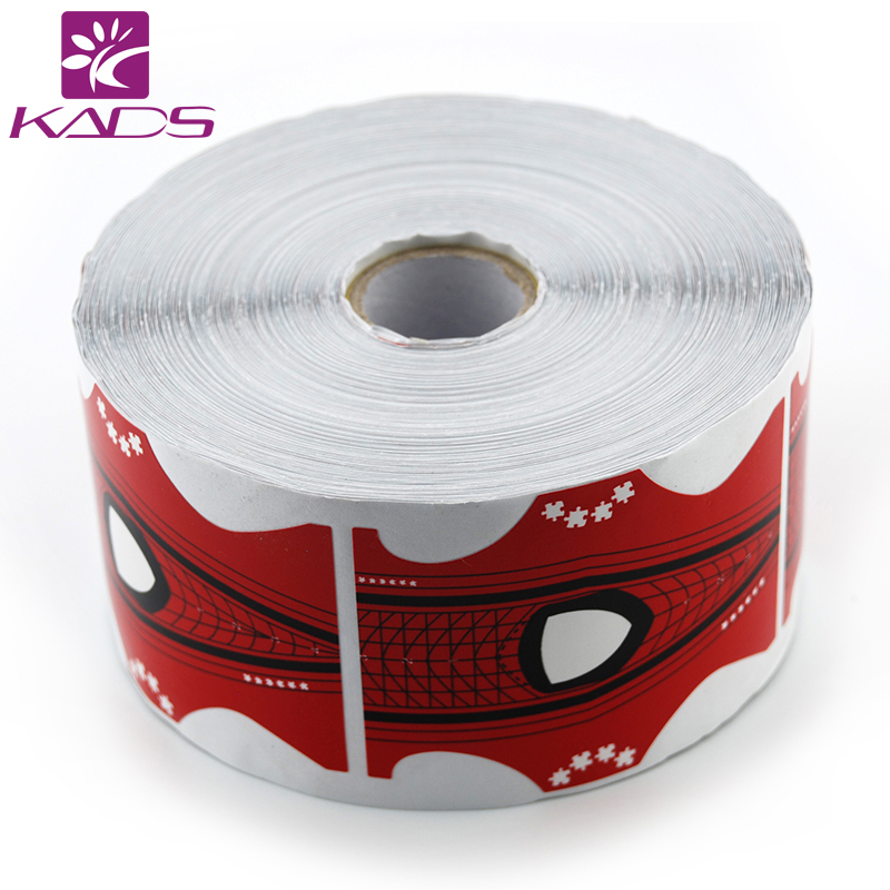 Wholesale 40roll/ Lot .Red Nail Form Art Tip Extension Forms for Acrylic UV Gel nail art Forms wholesale 10pc set nail extension form women nail salon equipment form art tip extension forms for acrylic uv gel 500pcs roll