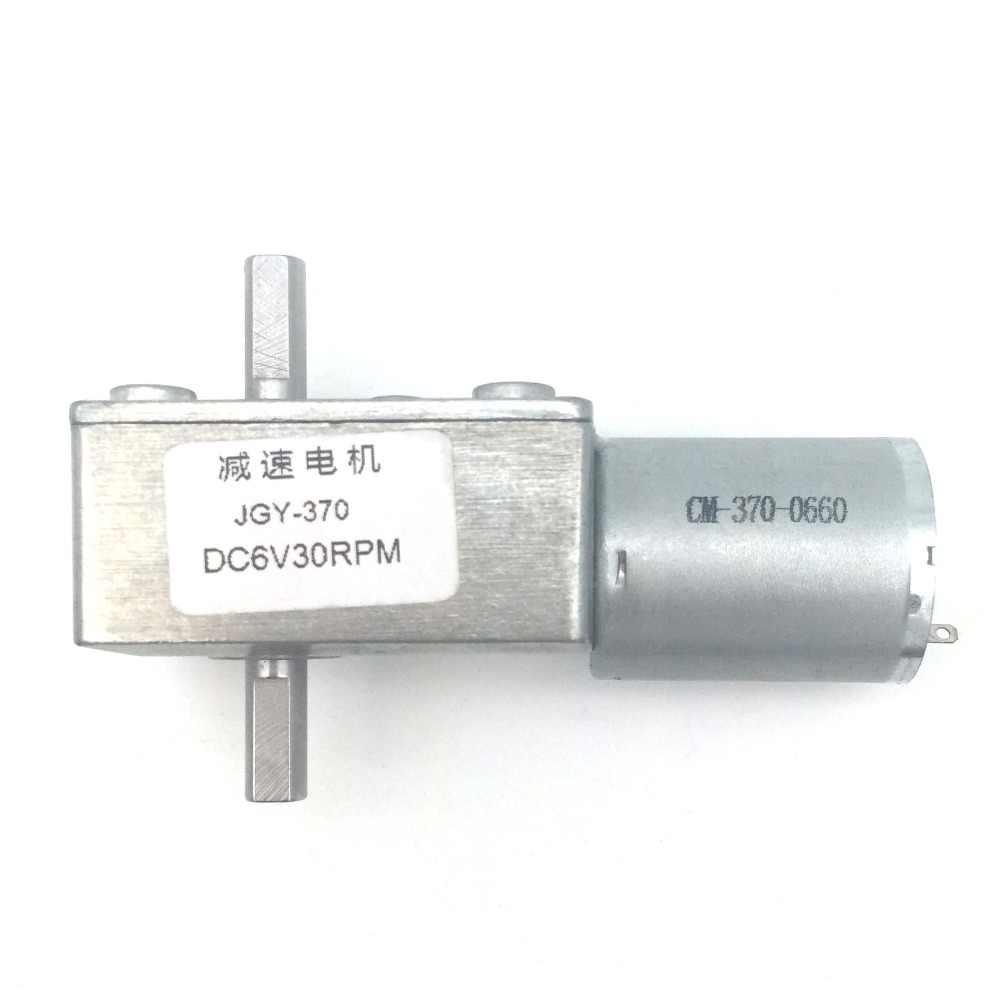 GY370 Turbo gusano engranaje Motor DC 6 V 12 V 24 V reductor Motor 6/10/18/ motor Micro eléctrico de 23/30/40/90/150 RPM