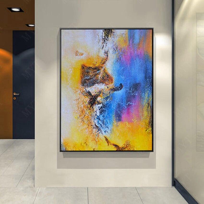 Di alta Qualità di Arte Astratta di Arte Della Parete Pittura A Olio dipinta A mano su Tela Pittura A Olio Astratta No Frame Opere D'arte Per Decorazioni per la Casa