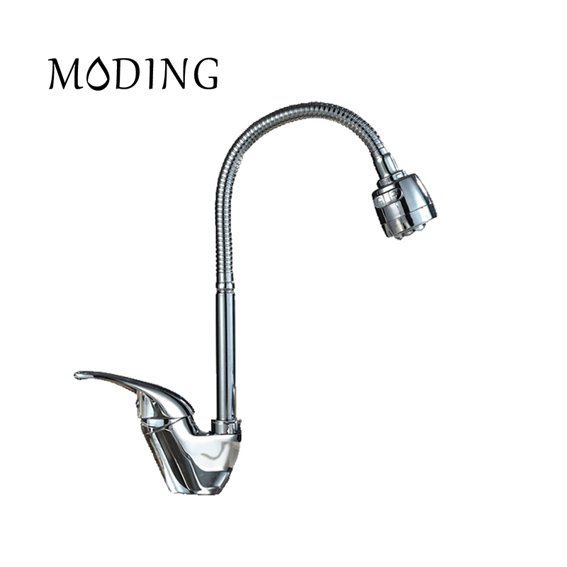 MODING 2017 Kitchen Faucet Mixer Cold And Hot Kitchen Tap Sink Single 360 Degree Swivel Hole
