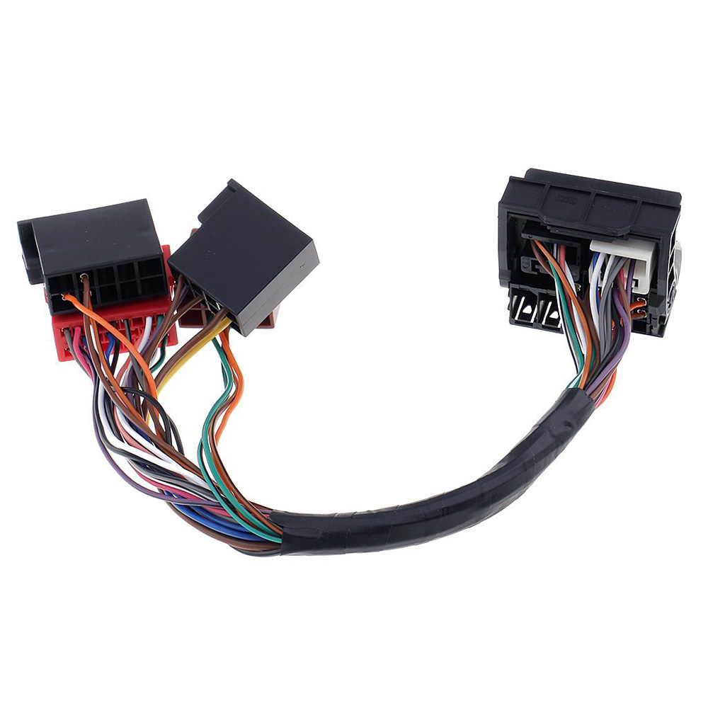 small resolution of car stereo radio iso standard wiring harness connector adapter plug cable for audi navigation with quadlock connection in cables adapters sockets from
