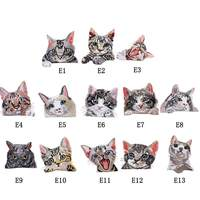 Cat Style Embroidered Patch Cute Animal Cloth Sticker Sewing Accessories Badge Stickers Diy Clothing Decorative