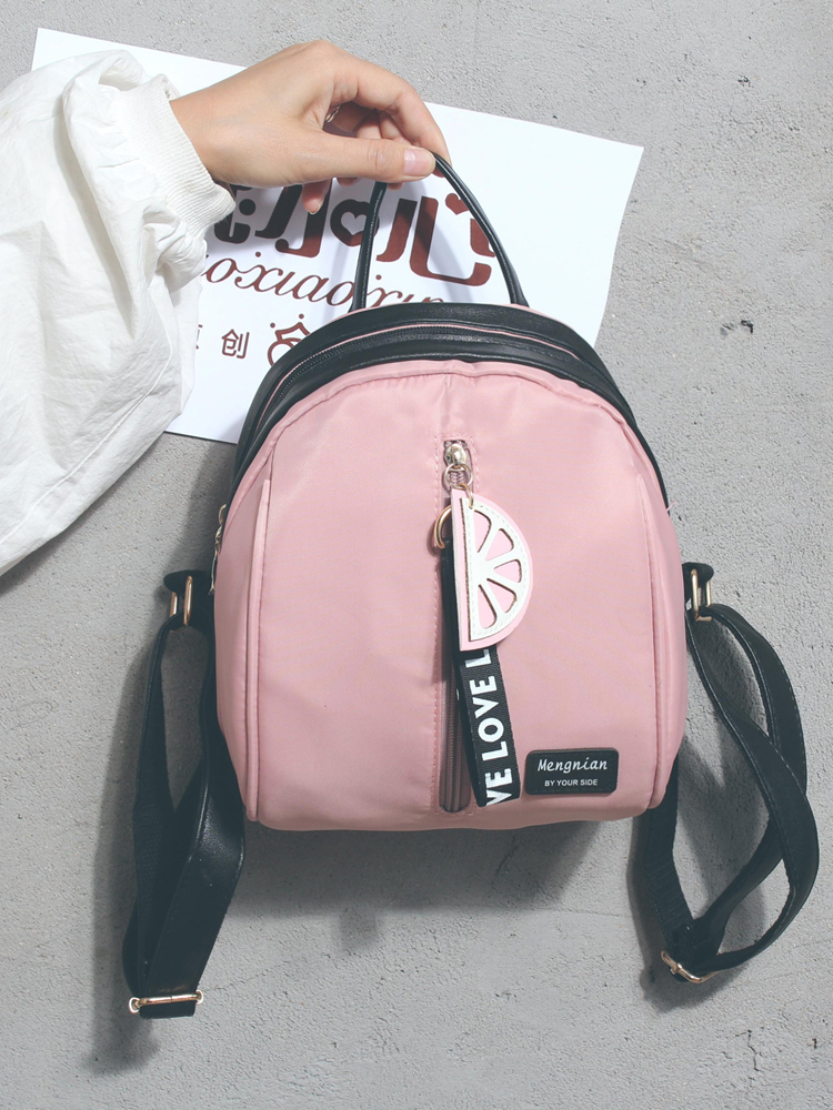 Backpack Female 2018 New Wild Fashion Women Bag Shell Contrast Color Oxford Cloth Small Backpack Leisure Travel Bag 13 цена 2017