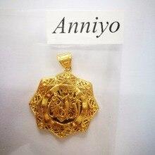 Anniyo Allah Pendant Necklace Islamic Arabic Gold Color Jewelry Women Men,Middle East Muslims Eid al-Fitr item #063202