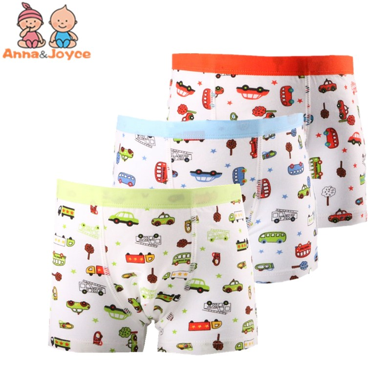 2 Pcs/lot Modal Boys Boxer Underwear Cartoon Underpants Underwear Kids Shorts Suit 1-2 Years Baby Boys