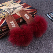 Women Slippers Natural Fur Warm Soft Plush Lady New Spring Summer Autumn Winter Home Plush Slippers Women Indoor\ Floor Shoes стоимость