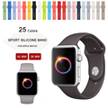 Новые Цвета синий/Бетон/Какао/Розовый песок Силиконовый Ремешок Для Apple Watch ремешок 42 мм 38 мм Серии 1 и 2 Для Apple Watch ремень