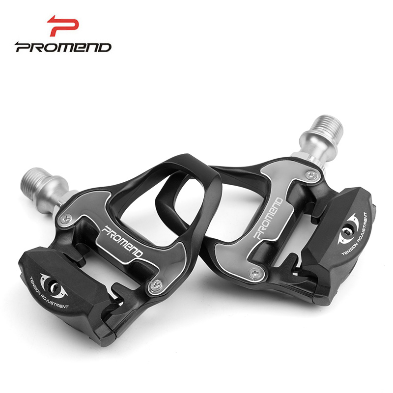 PROMEND Professional Aluminum Alloy Bicycle Bike Pedal MTB Road Bike Cycling Self Lock Pedal Ultralight Pedal With Lock Plate rockbros 9 16 magnesium alloy bicycle pedal titanium spindle ultralight mountain bike pedal 5 colors