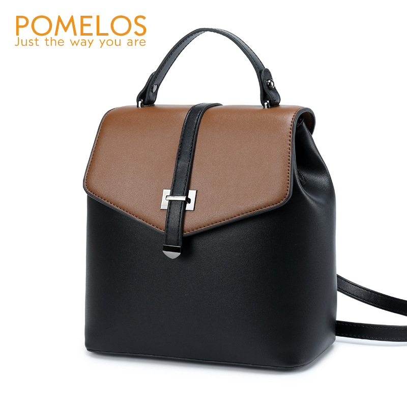 POMELOS Backpack Women High Quality Split Leather For Rucksack Woman Bagpack Travel