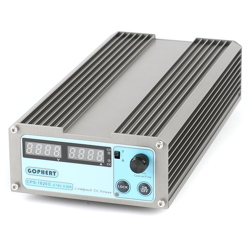 1620II Compact Digital Adjustable Low Power MINI DC Power Supply OVP OCP OTP 16V 20A MCU