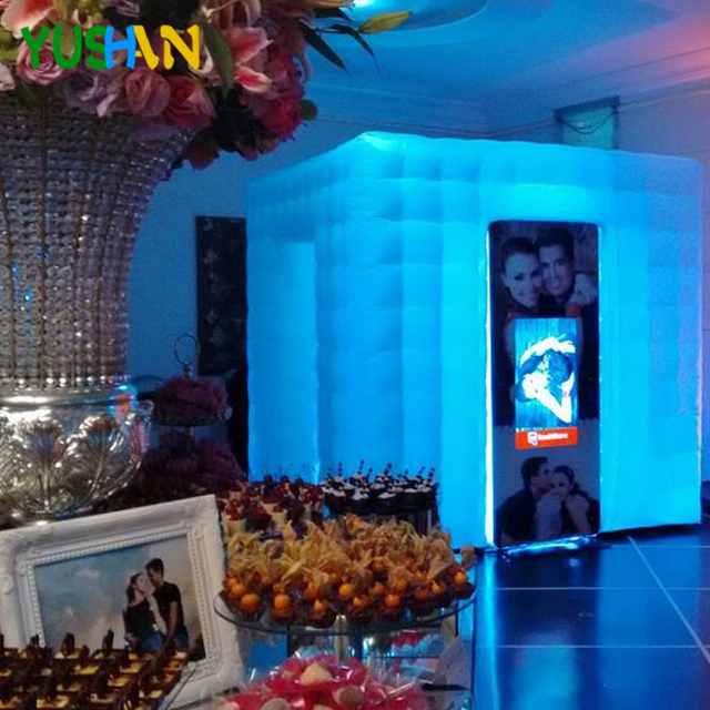 Remote control 16 colors inflatable party photo booth cheap wedding photo booth vending machine rental photo booth for Any Event