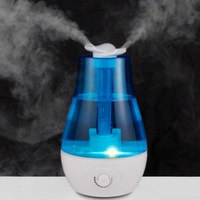 Ultrasonic 3L Mini Air Humidifier With LED Night Lights Double Spray High Capacity Aroma Diffuser Lighting