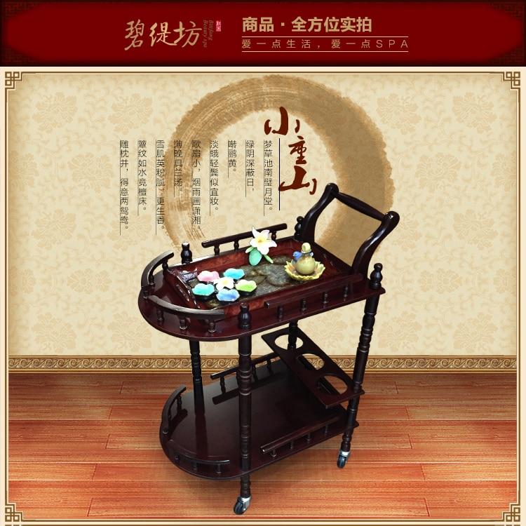 Piękno najwyższej jakości. Drewniany wózek kosmetyczny. Wózek - Meble - Zdjęcie 3