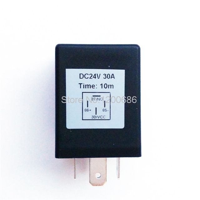 30a 24v time relay timer relay 10 minutes off automotive spdt 600