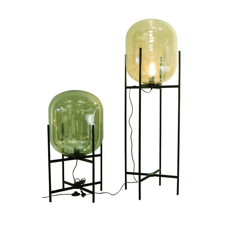 Creative simple floor lamps glass lampshade standing lamp Toolery living room bedroom new design home art decoration lighting цена 2017