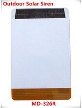 Easy installation Wireless Outdoor Strobe Flash siren Solar-powered Sire with 110dB big Sound Alarm