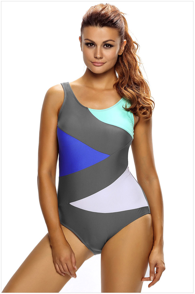 Free shipping Sexy Color Block Front Lace up Black One Piece Swimsuit LC410042 1 piece free shipping anodizing aluminium amplifiers black wall mounted distribution case 80x234x250mm