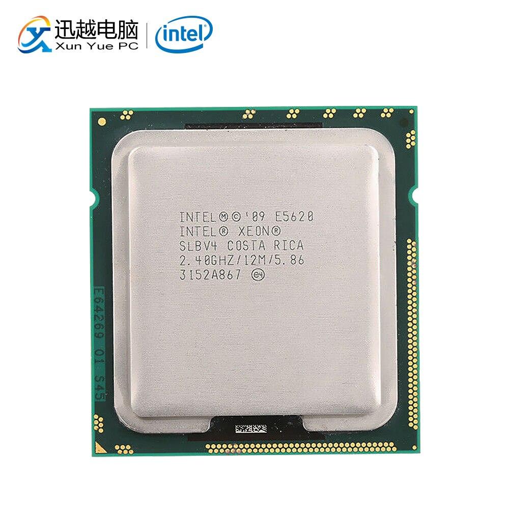 Intel Xeon E5620 Desktop Processor Quad-Core 2.40GHz L3 Cache 12MB 5.86 GT/s QPI LGA 1366 SLBV4 5620 Server Used CPU