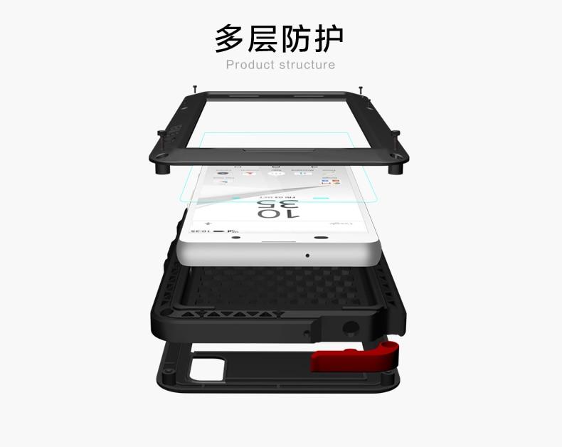 Image 4 - Dla SONY Xperia Z5 3 wytrzymałe etui luksusowe miłość MEI potężny metalowa obudowa E6653 E6633 E6683 E6603 aluminium wodoodporna, odporna na wstrząsy pokrywa w Dopasowane obudowy od Telefony komórkowe i telekomunikacja na