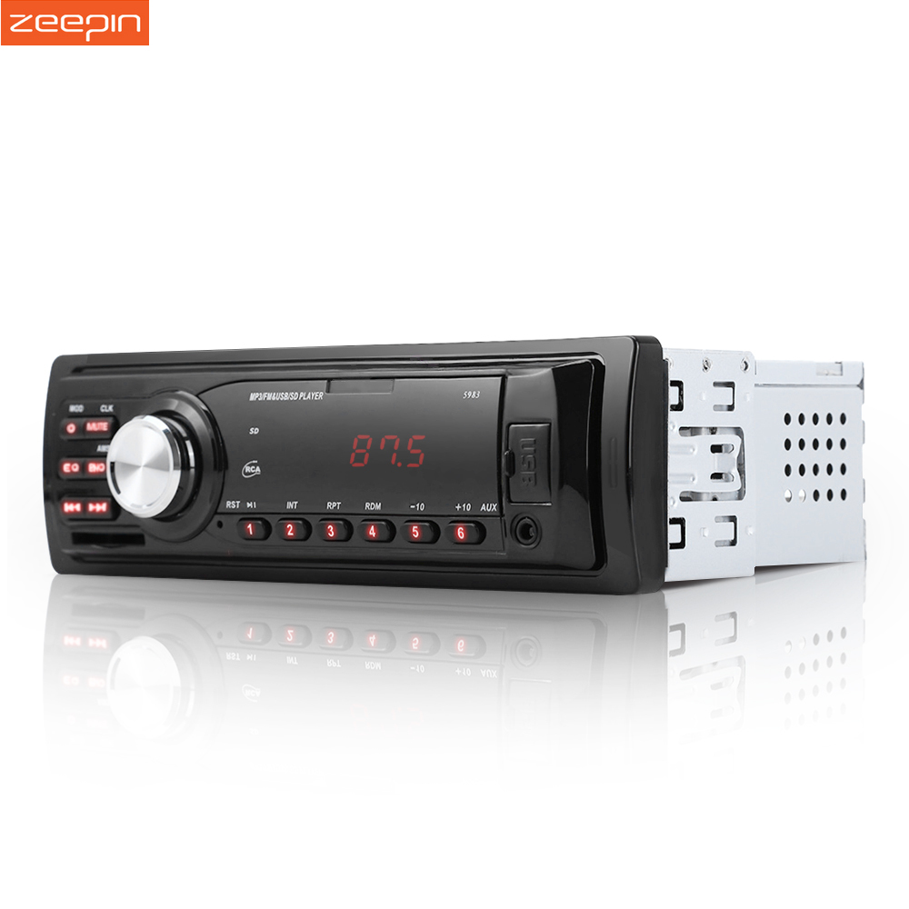 1Din Car Radio Auto Audio Stereo 12V Support FM SD AUX USB