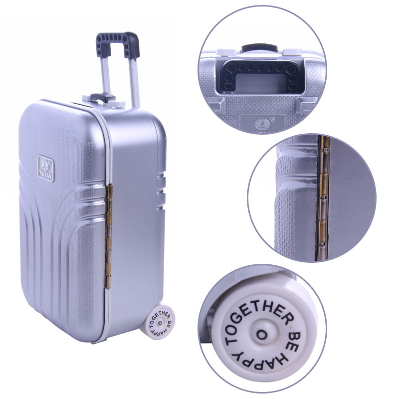 Travel Set Suitcase Gray Suitcase For 18 inch American Girl Doll,our generation of dolls,the best Christmas gift (only Suitcase) недорого
